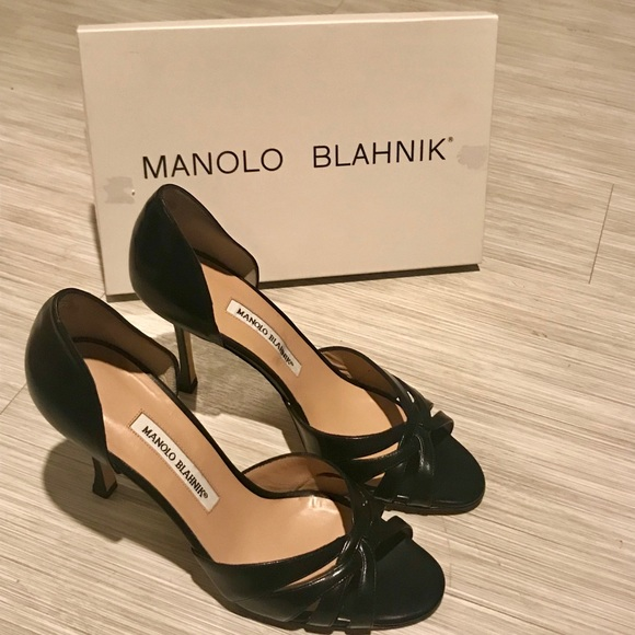 43d0b6faf59df Manolo Blahnik Shoes | Nib Black Heels | Poshmark